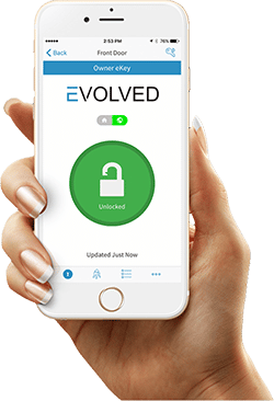 baldwin evolved smart door lock and baldwin smart phone app