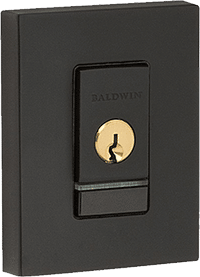 baldwin evolved smart door lock in satin black for modern front doors