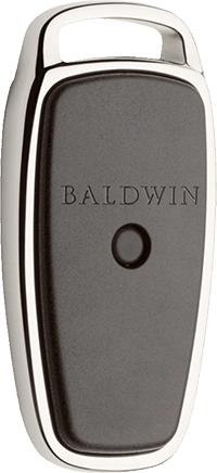 baldwin evolved black and chrome front door smart door lock fob