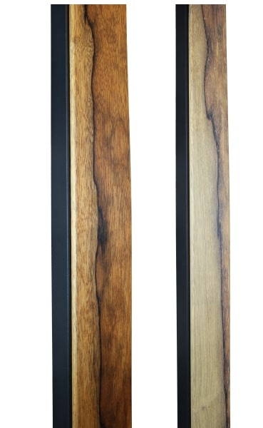 BLACK LIMBA & STEEL HANDMADE DOOR HANDLES