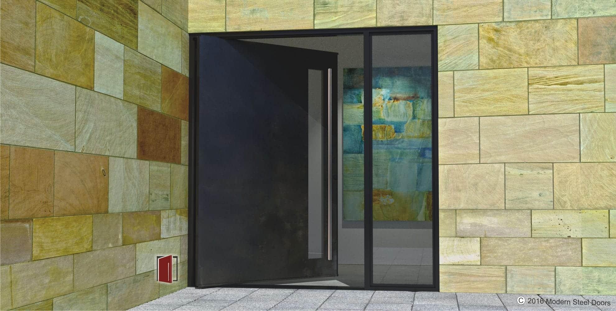 Stainless Steel Front Door Steel Exterior Front Entry Door