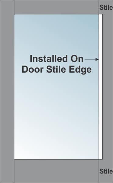 CONCISE DOOR PULL DRAWING.
