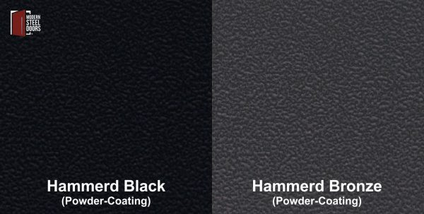 hammered black and bronze powder-coated finishes for front door
