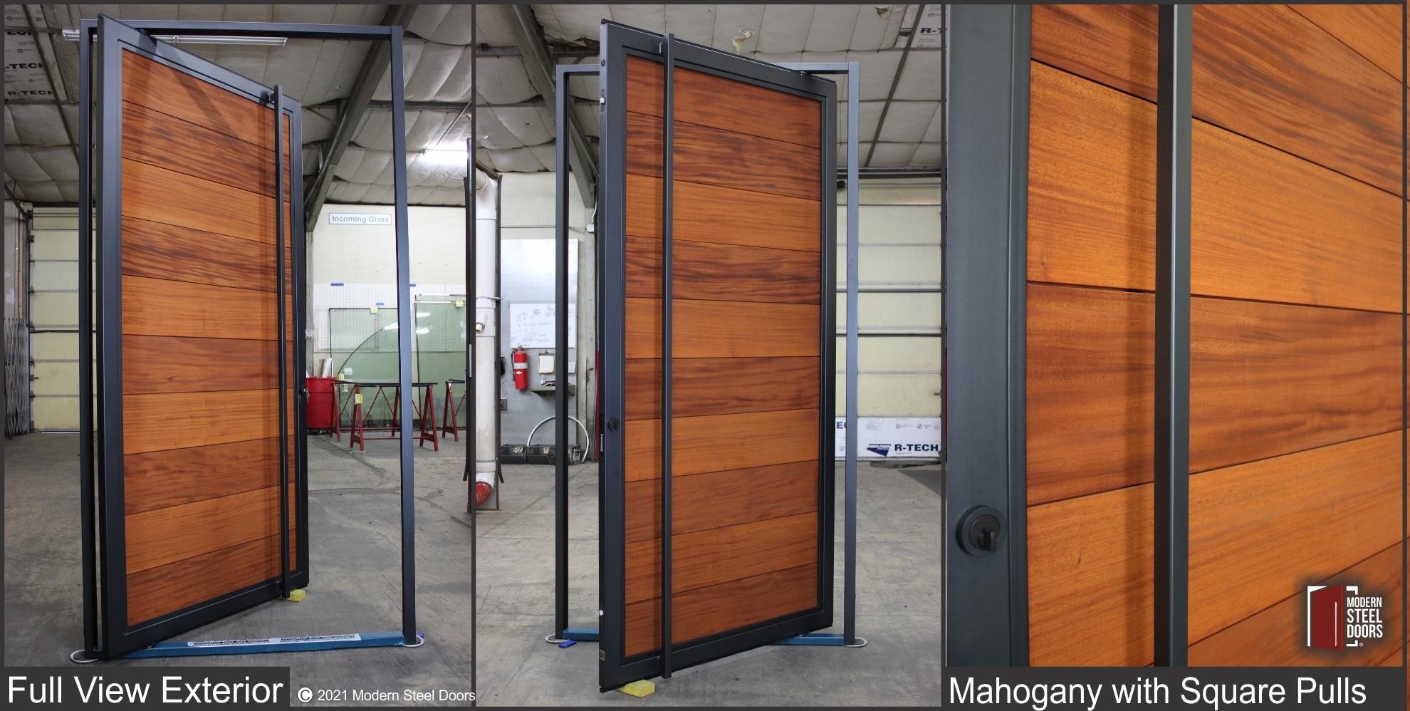 MAHOGANY FULL VIEW PIVOT DOOR