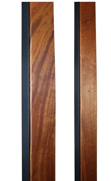 MAHOGANY & METAL DOOR PULLS