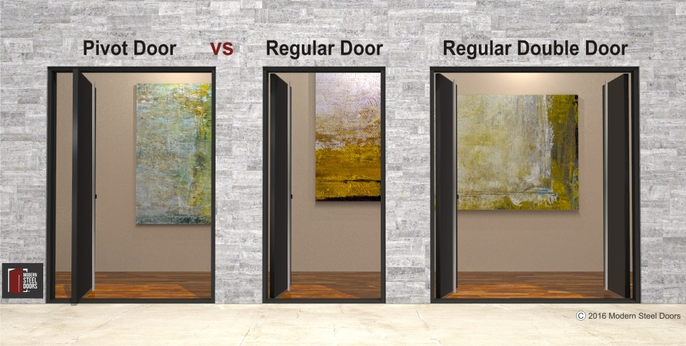 METAL PIVOT DOOR VS REGULAR DOOR HINGE