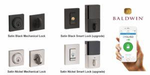 black and nickel mechanical front door locks and baldwin smart locks
