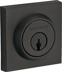 baldwin square black dead bolt front door lock