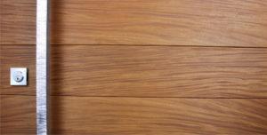 square modern door hardware with square stainless baldwin lock and genuine teak hardwood