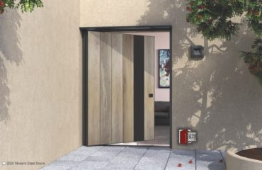VERTICAL WOOD DOOR WITH MEAL FRAME