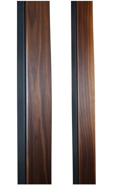 WALNUT AND METAL DOOR HANDLES