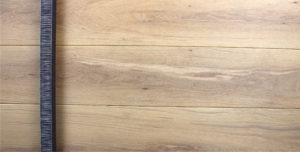 white oak hardwood door with square black door hardware