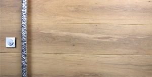 WHITE OAK WITH ROUND POLISHED FACETED PULL