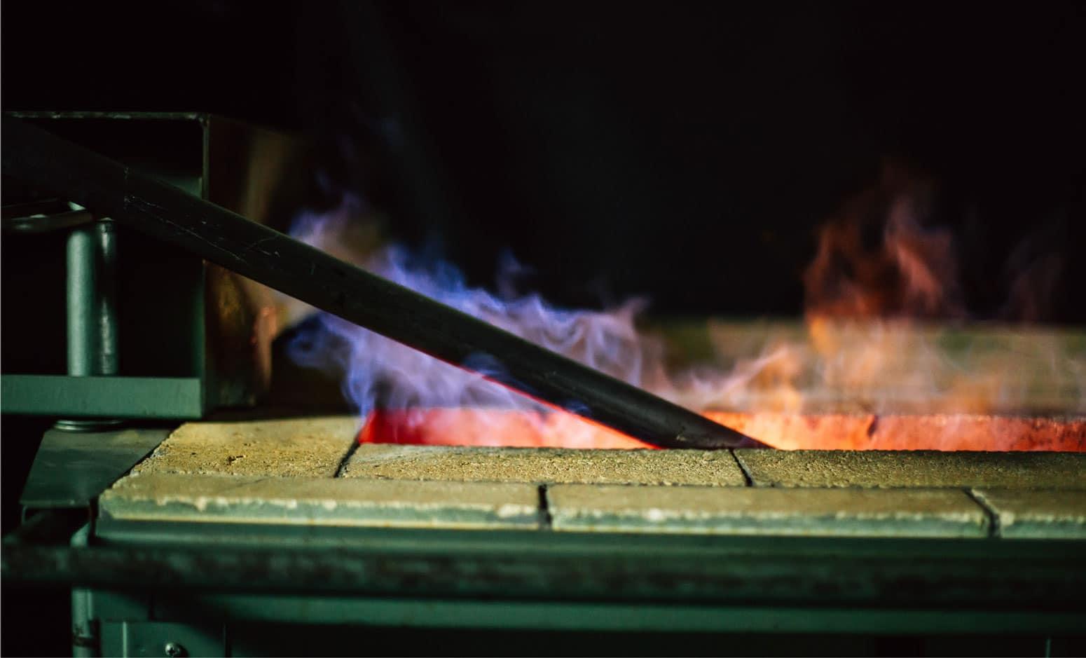 heating handmade and custom designed door hardware for sculpting