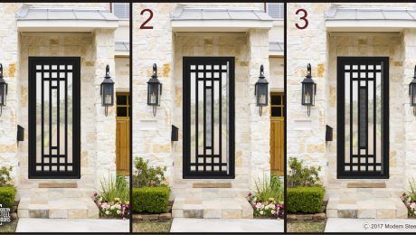 modern transitional front doors with different hardware ware options